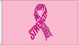 Pink-ribbon-flag-printed